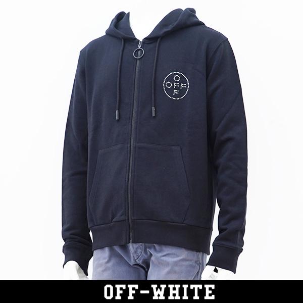OFF-WHITE(オフホワイト)【メンズウェア】スワロフスキー使用ジップアップパーカー【ブラック】0MBE001R190030101008
