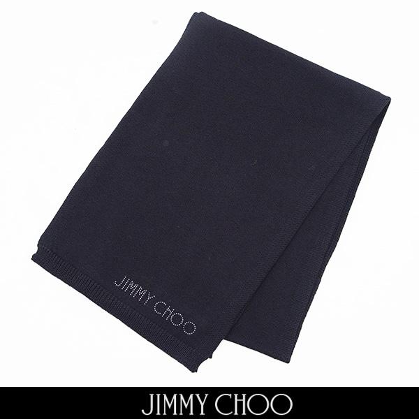 JIMMY CHOO(ジミーチュウ)ニットマフラーブラックH65094170.230