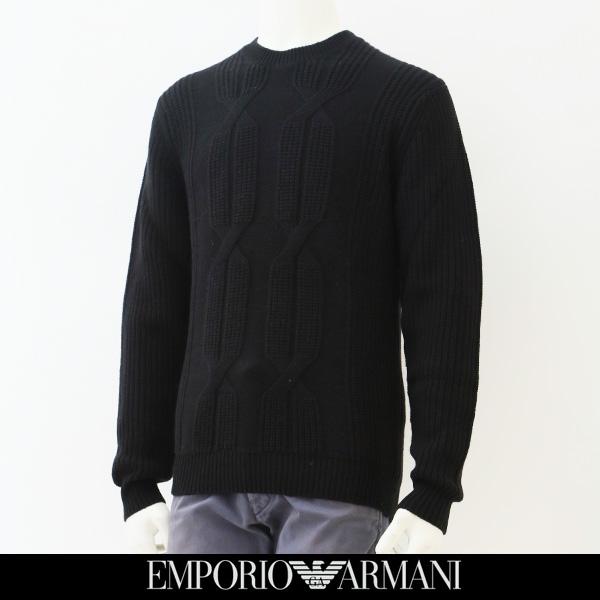EMPORIO ARMANI(エンポリオ アルマーニ)クルーネックセーターブラック6Y1M3L 1MCBZ