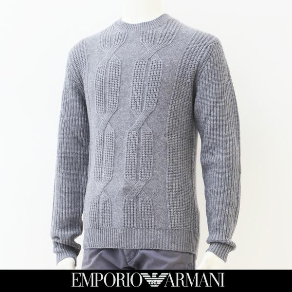 EMPORIO ARMANI(エンポリオ アルマーニ)クルーネックセーターグレー6Y1M3L 1MCBZ
