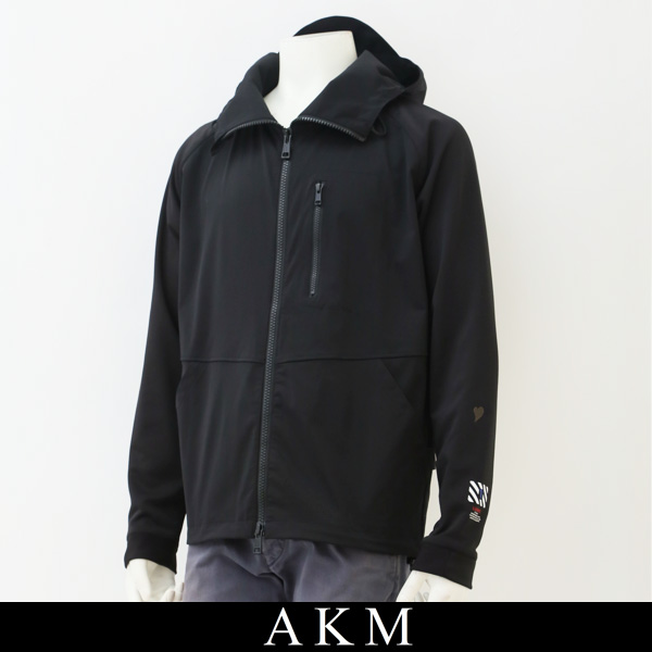 AKM(エイケイエム)ジップアップパーカーブラックAJ026 PE01
