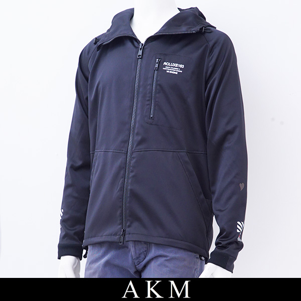 AKM(エイケイエム)ジップアップパーカーブラックAJ044 PE05 99