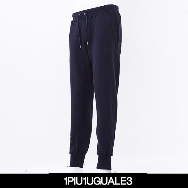 1PIU1UGUALE3(ウノピゥウノウグァーレトレ)CRANE RUNNER COLLECTION EASY RIB PANTS(ブラック)MRP372 99