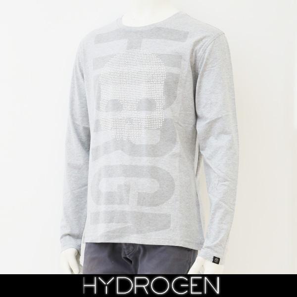 HYDROGEN(ハイドロゲン)長袖Tシャツ/ロンTロングTシャツグレー240627