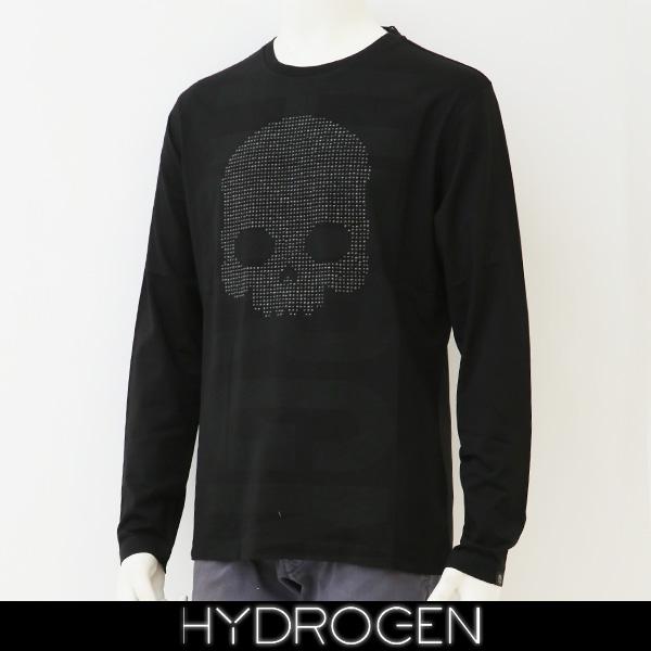 HYDROGEN(ハイドロゲン)長袖Tシャツ/ロンTロングTシャツブラック240627
