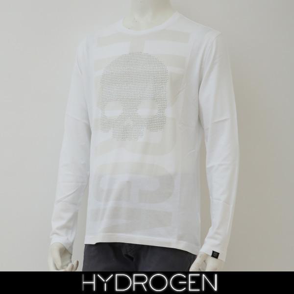 HYDROGEN(ハイドロゲン)長袖Tシャツ/ロンTロングTシャツホワイト240627