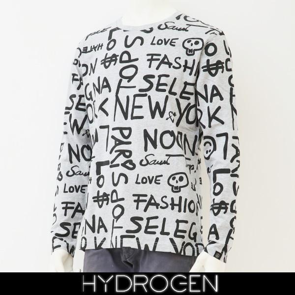 HYDROGEN(ハイドロゲン)長袖Tシャツ/ロンTロングTシャツグレー系240631