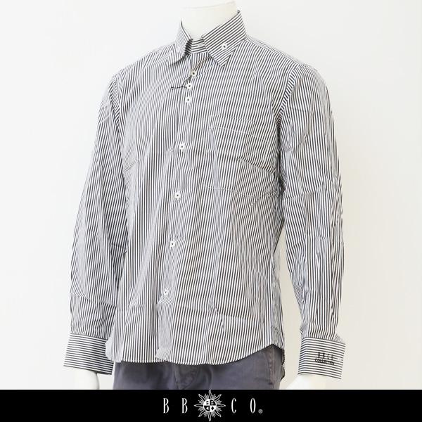 BBCO(ビビコ)長袖シャツホワイト×ブラックW 15106 1