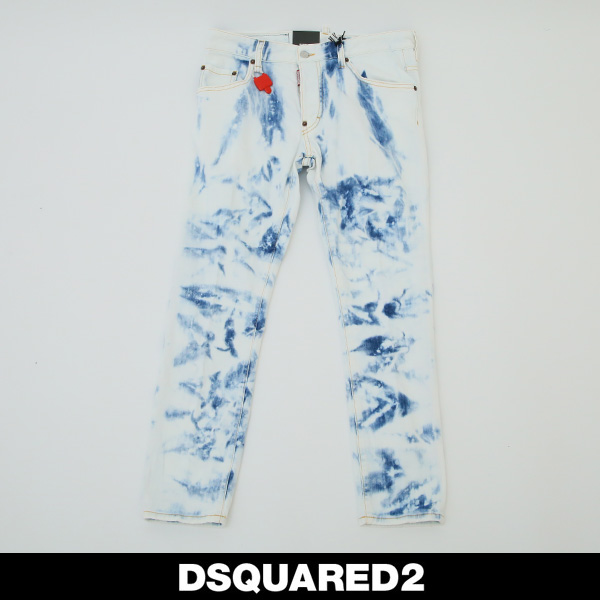 DSQUARED2(ディースクエアード)ダメージ加工スケータージーンズ/SKATER JEANS74LB0486