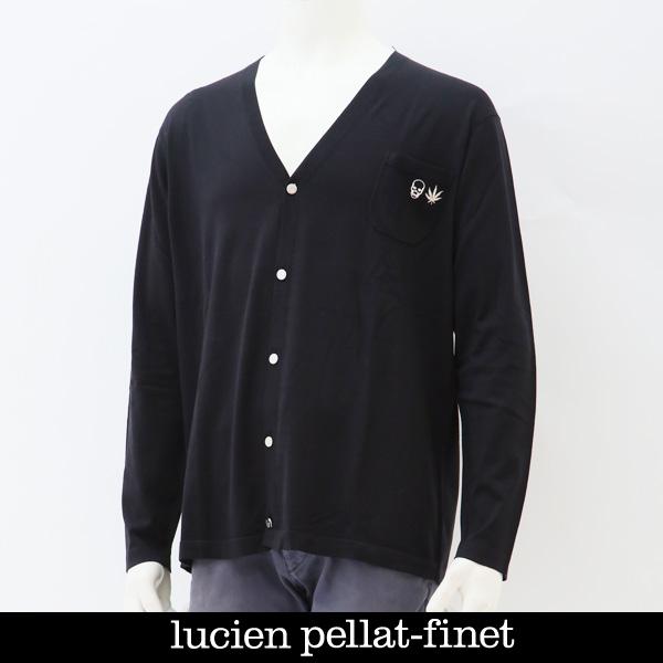 Lucien Pellat-finet(ルシアンペラフィネ)カーディガンブラックNB 74H(213 55610 085)