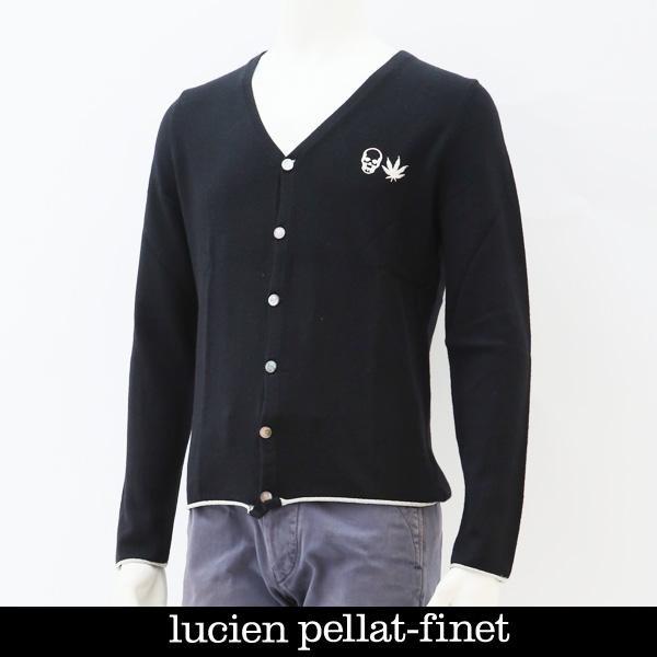 Lucien Pellat-finet(ルシアンペラフィネ)カーディガンブラックNB 61H(213 25611 094)