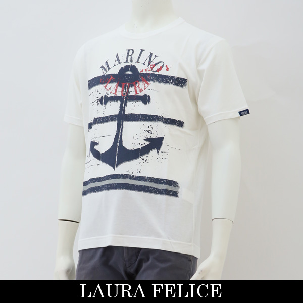 LauraFelice(ラウラフェリーチェ)半袖Tシャツホワイト132 5511 11
