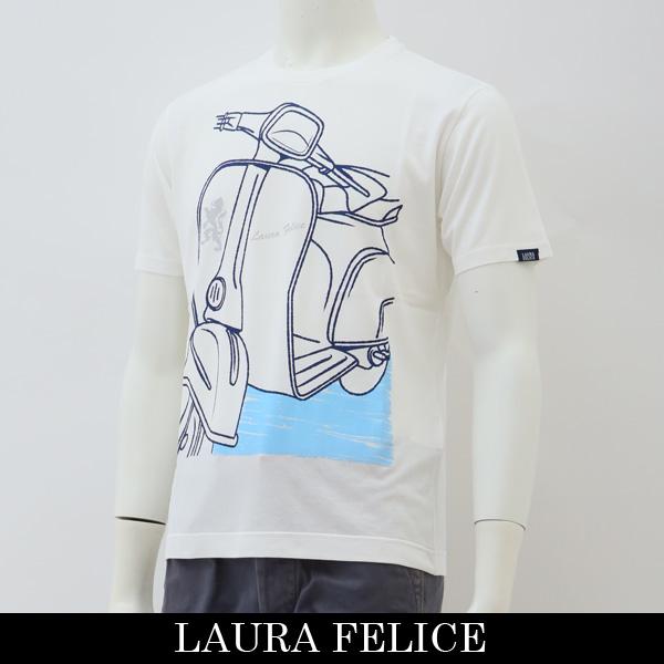 LauraFelice(ラウラフェリーチェ)半袖Tシャツホワイト132 5508 11