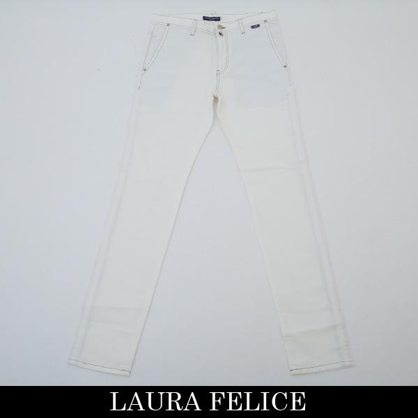 LauraFelice(ラウラフェリーチェ)ストレッチコットンパンツホワイト132 2004 12