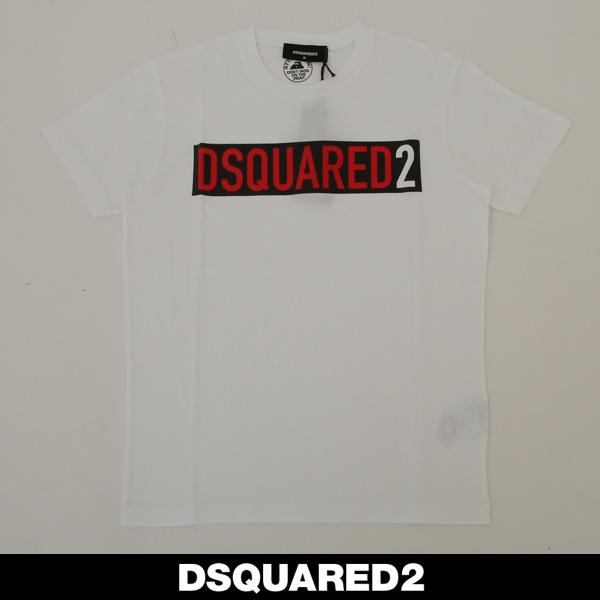 Dsquared(ディースクエアード)ロゴプリント半袖TシャツホワイトS74GD0479