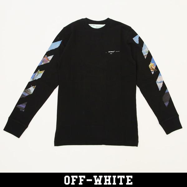 OFF-WHITE(オフホワイト)【メンズウェア】ロングTシャツ長袖TシャツDIAG COLORED ARROWS L/S TEEブラック0MAB001R191850121088