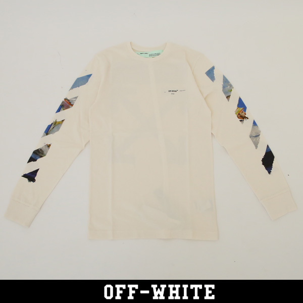 OFF-WHITE(オフホワイト)【メンズウェア】ロングTシャツ長袖TシャツDIAG COLORED ARROWS L/S TEE ホワイト0MAB001R191850120288