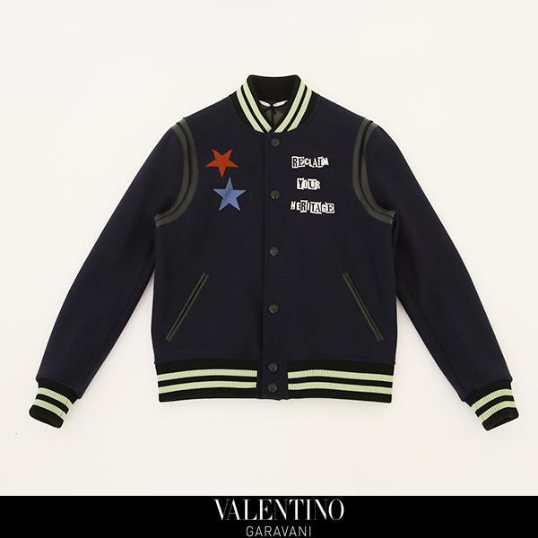 VALENTINO(ヴァレンティノ)【メンズウェア】スタジアムジャンバーネイビーNV0C1030/4MB 598