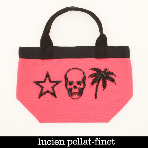 Lucien Pellat-finet(ルシアンペラフィネ)トートバックレッド×ブラック323 79205