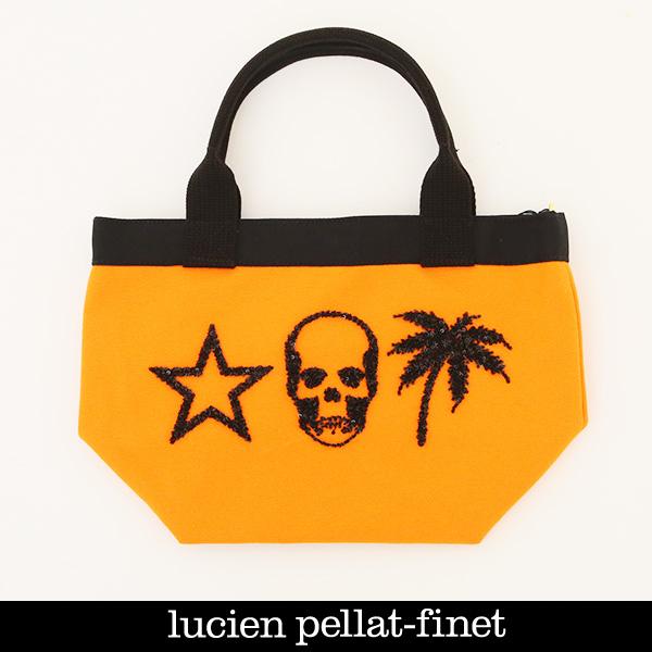 Lucien Pellat-finet(ルシアンペラフィネ)トートバックオレンジ×ブラック323 79205