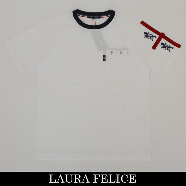 LauraFelice(ラウラ・フェリーチェ)半袖Tシャツホワイト132 5505 11