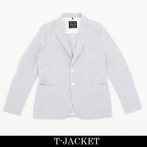 T-JACKET(ティージャケット)ジャケットホワイト×サックス419 84010002