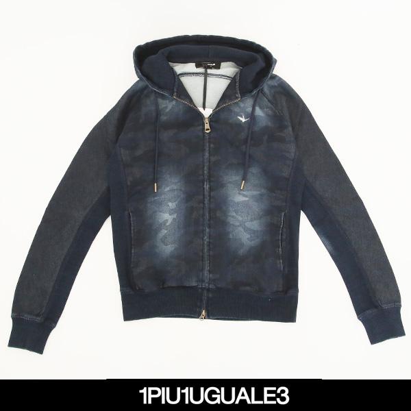 1PIU1UGUALE3 RELAX(ウノピゥウノウグァーレトレ)ジップアップパーカーUSO 405
