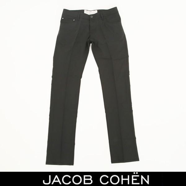 JACOB COHEN(ヤコブコーエン)ストレッチ素材サマーウールパンツブラック226 52146