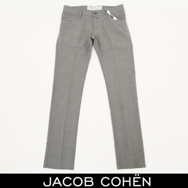 JACOB COHEN(ヤコブコーエン)ストレッチ素材サマーウールパンツグレー226 52146