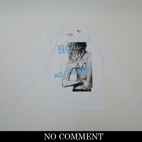 NO COMMENT PARIS(ノーコメントパリ)ロングTシャツ【ホワイト】LTN136