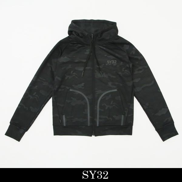 SY32bySWEET YEARS(スウィートイヤーズ)ジップアップパーカーブラック(カモフラ柄)8114GE
