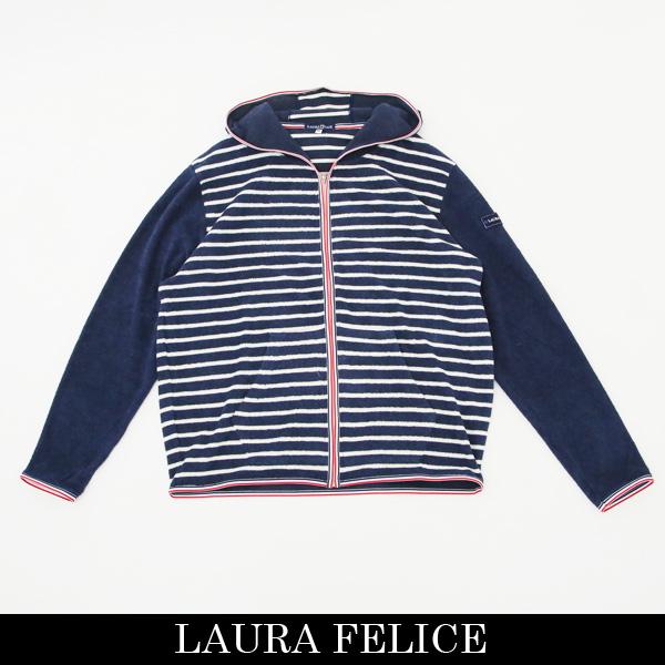 LauraFelice(ラウラ・フェリーチェ)ジップアップパーカー(ネイビー×ホワイト)132 6003 26