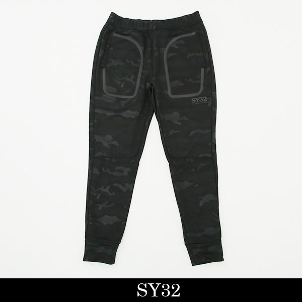 SY32bySWEET YEARS(スウィート イヤーズ)スウェットパンツブラック(カモフラ柄)8115GE