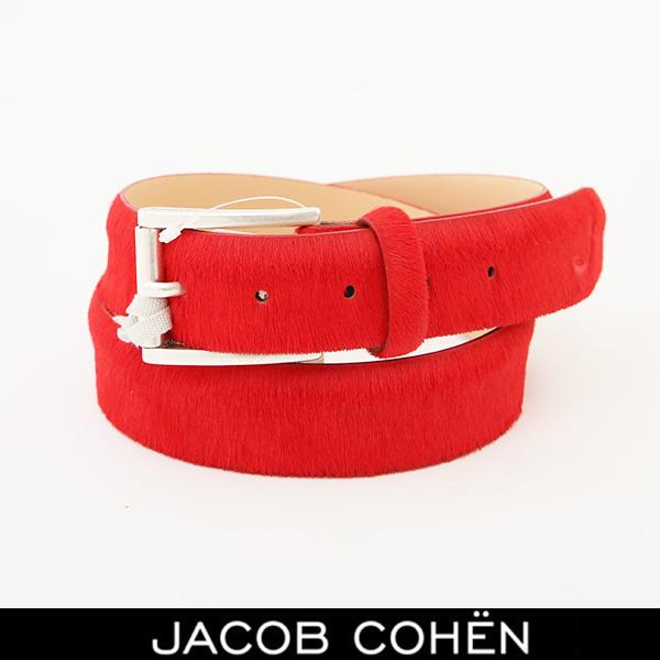 JACOB COHEN(ヤコブコーエン)レザーベルトレッド226 79305