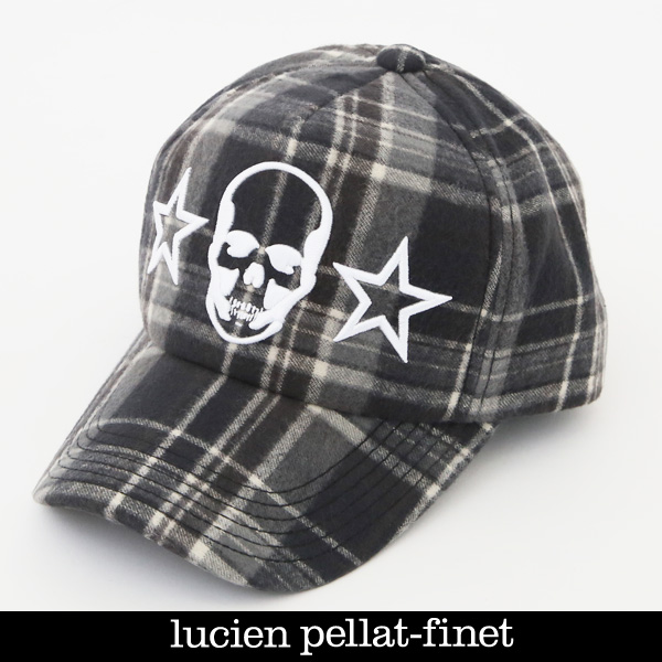 lucien pellat-finet ルシアンペラフィネ キャップグレー系CAP99(79904)