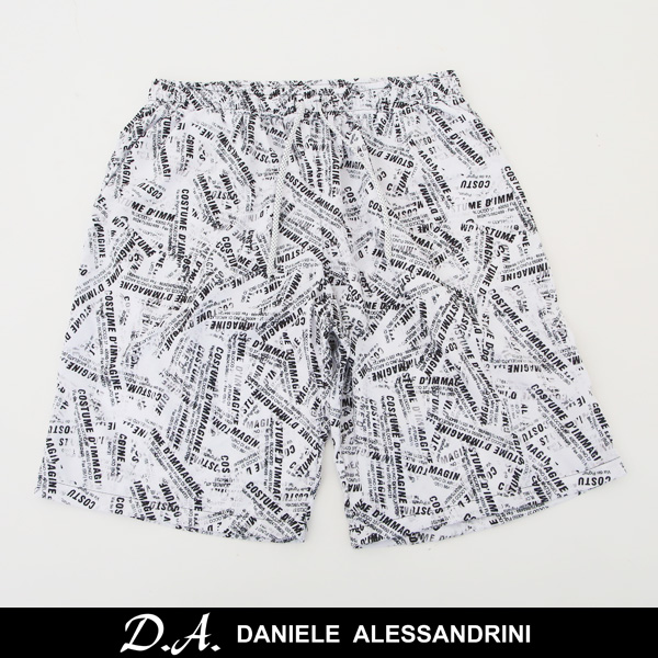 DANIELE ALESSANDRINI(ダニエレ・アレッサンドリーニ)スイムウェアー海パンホワイト×ブラック211 82989001