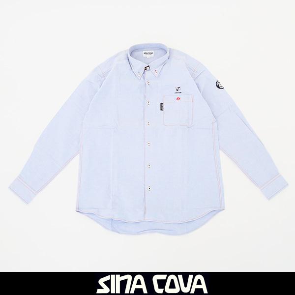 大人気SINA COVA(シナコバ)長袖カジュアルシャツライトブルー77614030 270