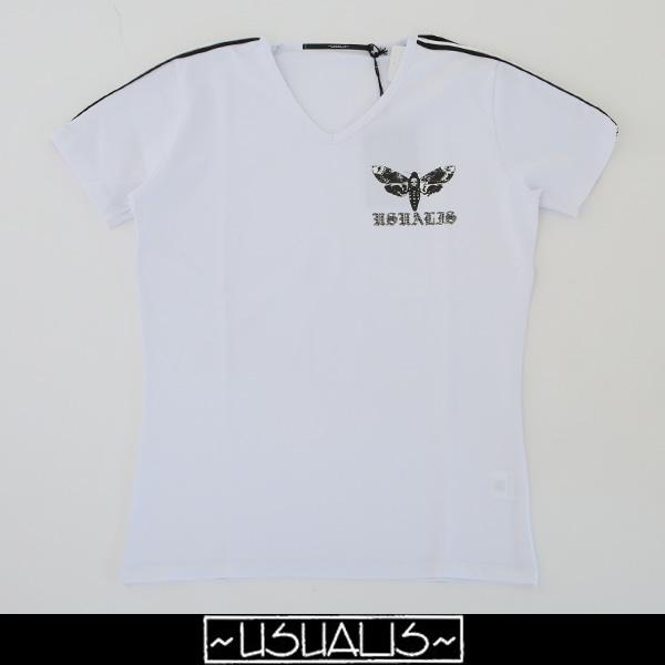 USUALIS(ウザリス)半袖TシャツホワイトU7091M