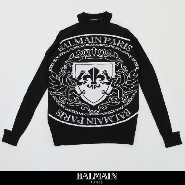 balmain(バルマン)【メンズウェア】セーター【ブラック×ホワイト】RH13132 K084 EAB