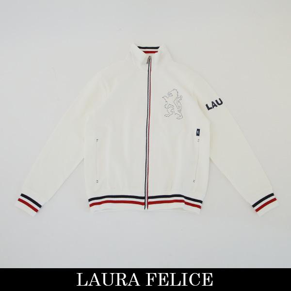LauraFelice(ラウラ・フェリーチェ)トラックジャケットホワイト132 6001 11