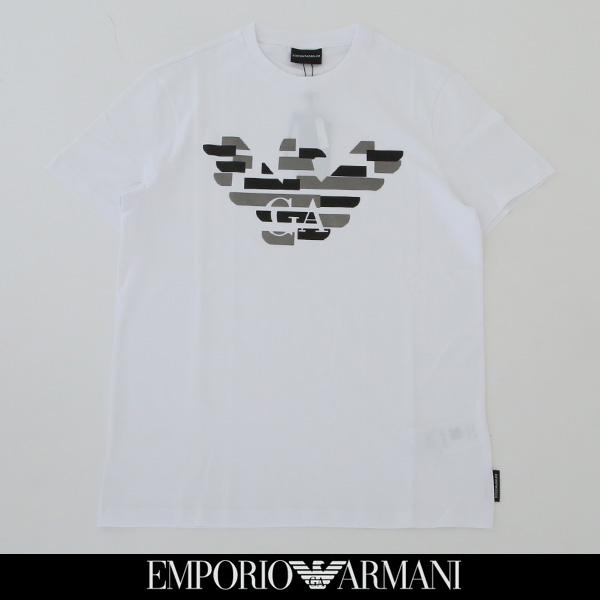 EMPORIO ARMANI(エンポリオ アルマーニ)半袖Tシャツホワイト6Z1TF7 1J30Z