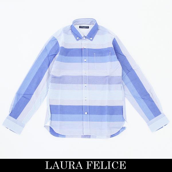 LauraFelice(ラウラ・フェリーチェ)長袖カジュアルシャツサックス系132 3108 24