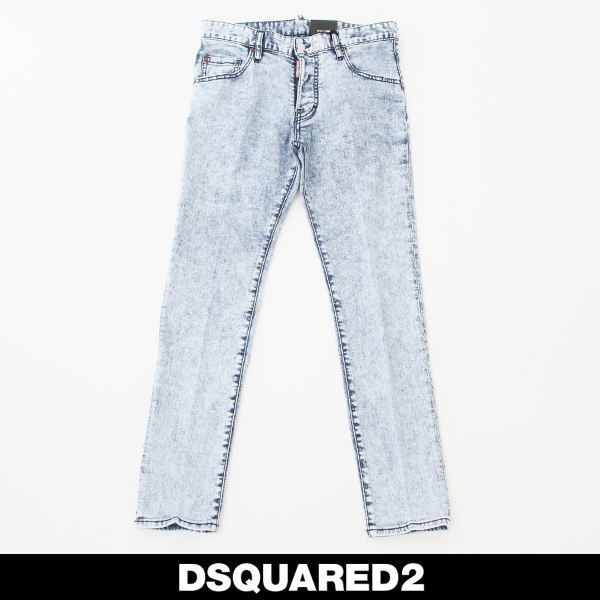 DSQUARED2(ディースクエアード)ダメージ加工スケータージーンズ/SKATER JEANS71LB0583