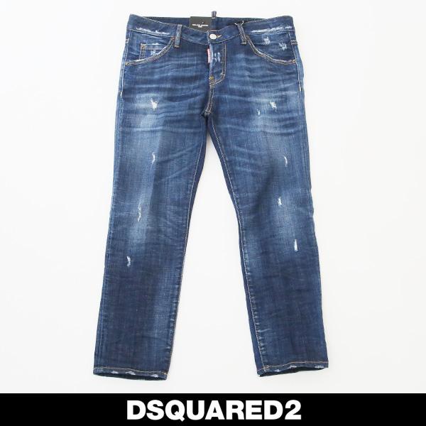 DSQUARED2(ディースクエアード)レディースダメージ加工ジーンズCOOL GIRL CROPPED JEANS72LB0196