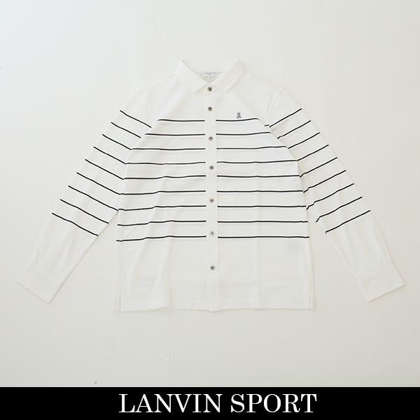 LANVIN SPORT(ランバン スポール)長袖ポロシャツホワイト系VML101408 WH04