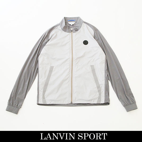 LANVIN SPORT(ランバン スポール)ジャンバーホワイト×グレーVMN603157N BG02