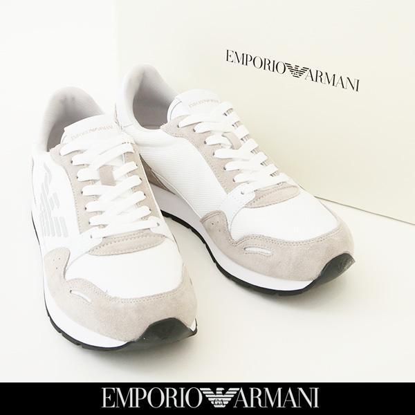 EMPORIO ARMANI(エンポリオアルマーニ)スニーカーホワイトX4X215 XL198