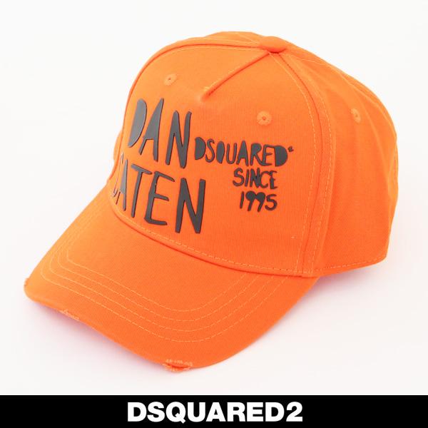 DSQUARED 2(ディースクエアード)キャップオレンジ×ブラックBCM0195