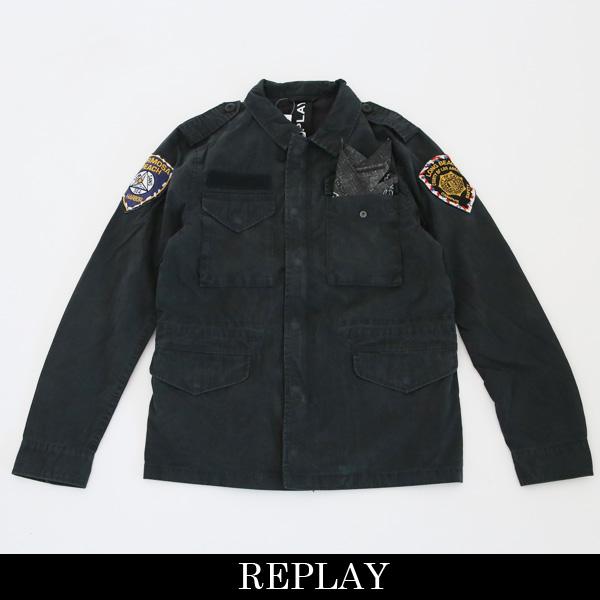 REPLAY(リプレイ)ミリタリージャケットブラック系M8980 000 83006