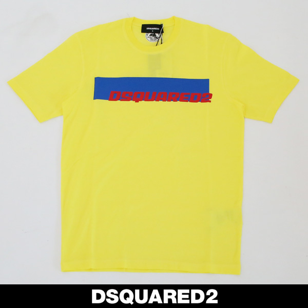 Dsquared(ディースクエアード)ロゴプリント半袖TシャツイエローS71GD0762